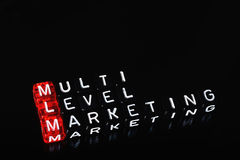 Mlm black cubes Royalty Free Stock Images