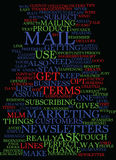 Mlm E Mail Newsletters And How To Stay In Touch Text Background Word Cloud Concept stock illustration