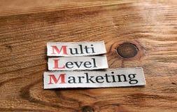 MLM- márketing llano multi Imágenes de archivo libres de regalías