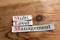 MLM-, mehrstufiges Management Stockbilder