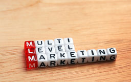 MLM Multi Level Marketing Stock Image