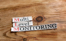 MLM- Multi Level Monitoring Stock Images