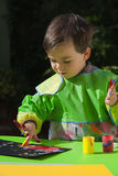 målning för finger 2 Arkivbild