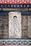 målningsphoen undervisar tempelwat Arkivbild