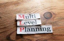 MLP-, mehrstufige Planung Lizenzfreie Stockfotografie