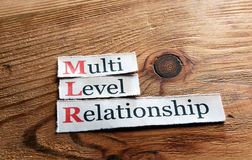 MLR- Multi Level Relationship Royalty Free Stock Photos