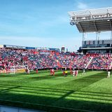 MLS足球赛 库存图片
