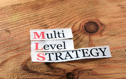 MLS- stratégie de niveau multi Photos stock