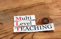MLT- πολυ διδασκαλία επιπέδων Στοκ Φωτογραφία