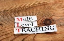 MLT- enseignement de niveau multi Photographie stock