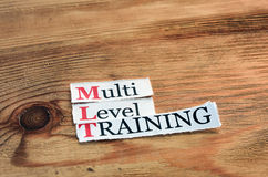 MLT-, mehrstufiges Training Lizenzfreies Stockbild