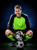 Målvaktfotbollman Royaltyfri Fotografi