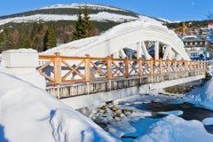 Mlyn de Spindleruv de station de sports d'hiver, montagnes (géantes) de Krkonose, République Tchèque Image libre de droits