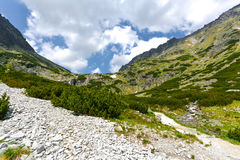Mlynicka dolina, Vysoke Tatry (Mlinicka谷,高Tatras) -斯洛伐克 免版税图库摄影