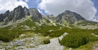 Mlynicka dolina, Vysoke Tatry (Mlinicka谷,高Tatras) -斯洛伐克 库存照片