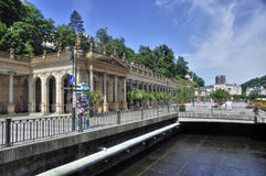 Mlynska kolonada at Karlovy Vary Stock Photo