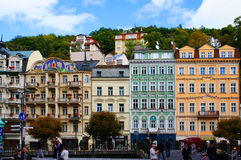 Mlynske gata av Karlsbad (Karlovy varierar), Royaltyfria Bilder