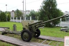 76 mm分部1942年根据wea的苏联的枪ZIS-3样品 免版税图库摄影