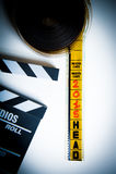 35mm卷轴影片头与 库存图片
