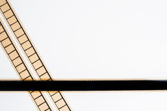 35 mm在白色背景的影片条纹 免版税库存图片
