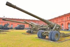 180mm大炮S-23 免版税库存照片