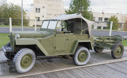 107 mm山组装团灰浆mod 1938年(苏联) 免版税库存图片