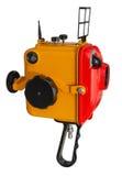 8 mm影片电影摄影机的老水下的箱子 库存照片