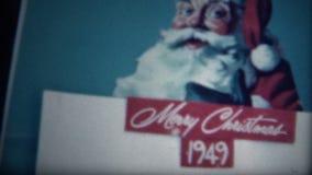 (8mm影片)焦炭圣诞节1949年广告 股票视频