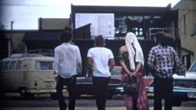 (8mm影片)街市巨石城科罗拉多1969名嬉皮 影视素材