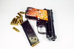 6.35 mm手枪 库存图片