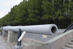 305 mm枪管战舰(1914) 重量, kg :桶50,560; 免版税库存照片