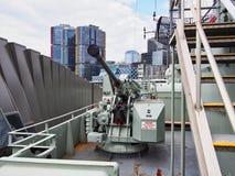 40mm波佛斯反飞机枪,海博物馆,悉尼,澳大利亚 免版税库存照片