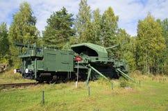 180 mm火炮登上TM-1-180的看法 堡垒 库存图片