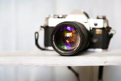 35mm照相机slr葡萄酒 图库摄影