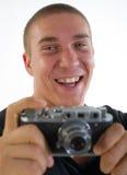 从35 mm的摄影师照相机 库存图片