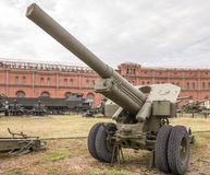 152 mm短程高射炮, mod 1938年(M-10) 免版税库存照片