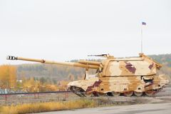 152 mm短程高射炮2S19  免版税库存照片