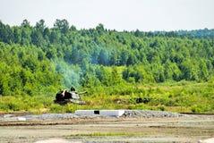 152 mm短程高射炮2S19 Msta-S。俄罗斯 免版税库存照片
