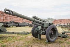 152 mm短程高射炮D-1 免版税图库摄影