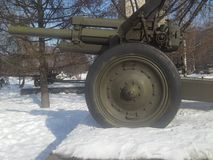 122 mm短程高射炮M-30 库存照片