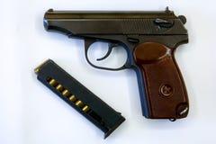 9 mm自动装载的手枪马卡罗夫PM 库存照片