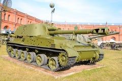 152mm自走大炮2S3金合欢 免版税库存照片