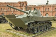 120 mm自走枪2S9 库存图片