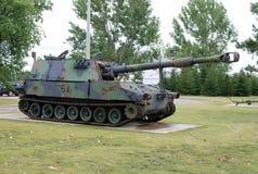 105mm自走短程高射炮 免版税库存照片