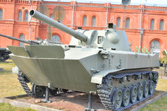 120 mm自走短程高射炮2S9 NonaS 库存图片