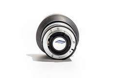 50mm透镜后面存储卡在焦点 免版税库存图片