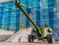 100 mm野战炮M1944 (BS-3) 免版税库存照片