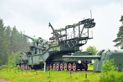 305 mm铁路枪TM-3-12 免版税库存照片