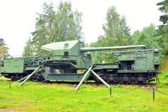 180 mm铁路枪TM-1-180 免版税库存图片