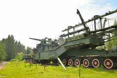 305-mm железнодорожное оружие TM-3-12 Стоковое фото RF